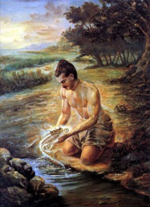The-Lord-accepted-the-form-of-a-fish-and-protected-Vaivasvata-Manu-570x1000